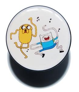 Image of Adventure Time Acrylic Plugs Logo Stretchers
