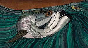 Image of The Big Sniffer. Tarpon Painting