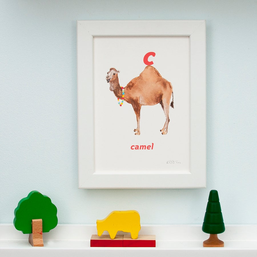 Image of C - Camel Letter Print