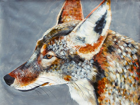 Image of Fine Art Giclee print reproduction of original Coyote painting by Natalie Wright