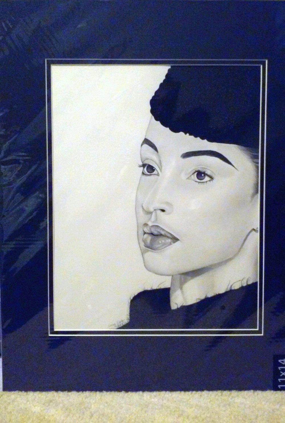 Matted Original Sade Drawing