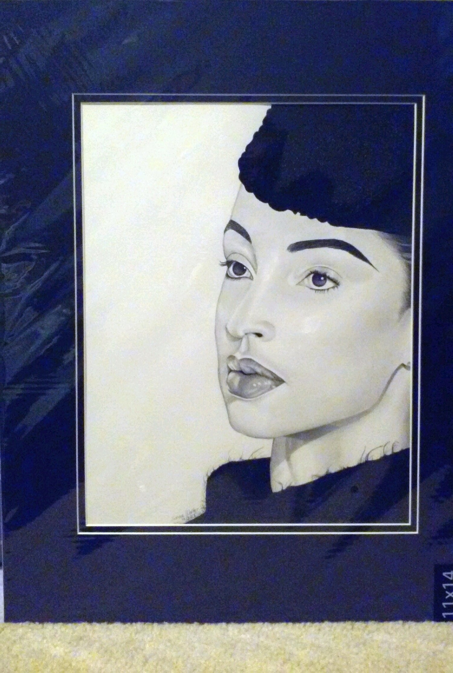 Image of Matted Original Sade Drawing