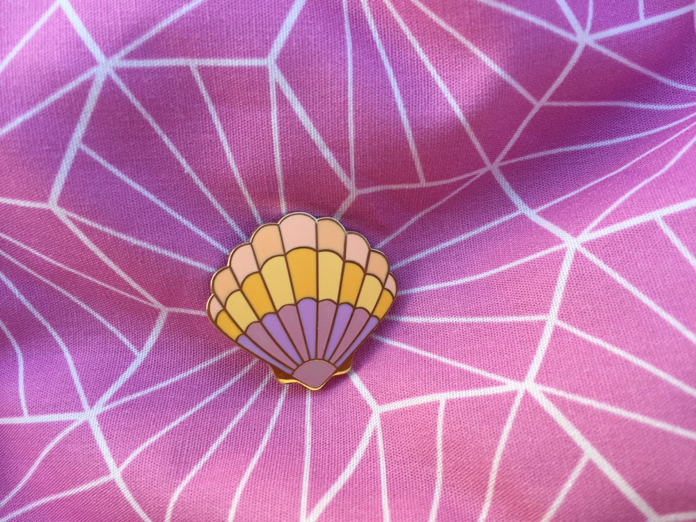 Image of Sunrise Shell Enamel Pin
