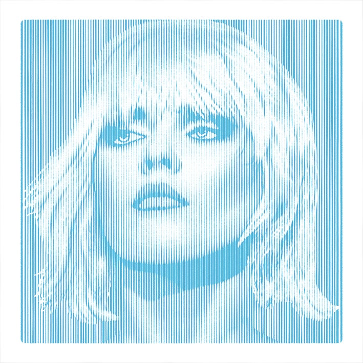 Image of DEBBIE HARRY... Parallel Lines - BLUE - 2/3 artist proof