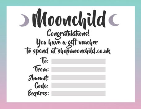 Image of Moonchild gift voucher