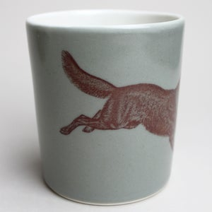 Image of 16oz tumbler with wolf, sage