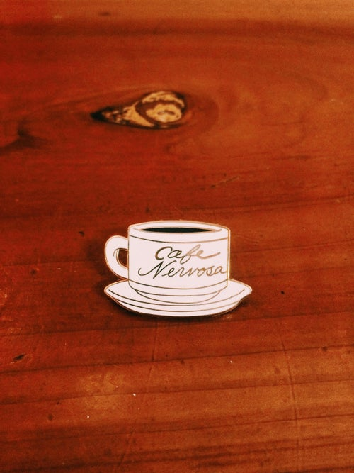 Image of Cafe Nervosa Frasier enamel pin