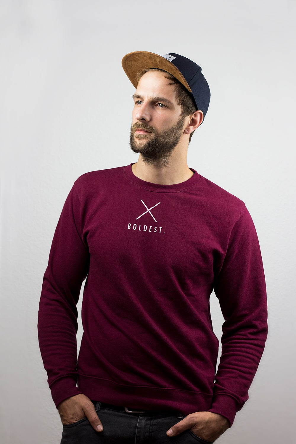 Image of TOP OUT Mens Sweatshirt burgundy