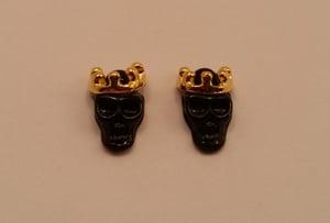 Image of King skull metal nail charms (2 pcs) 11x8mm Pink, green, yellow or black