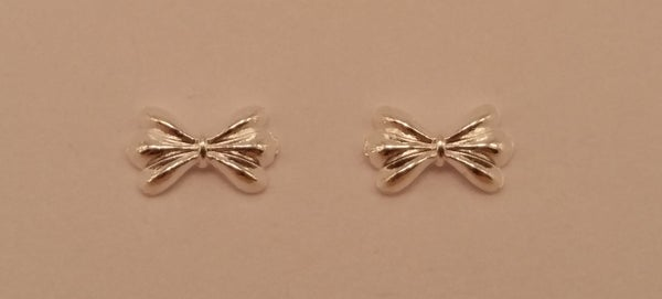 Image of Cute metal nail bow charms. (8x5mm) Silver or Gold