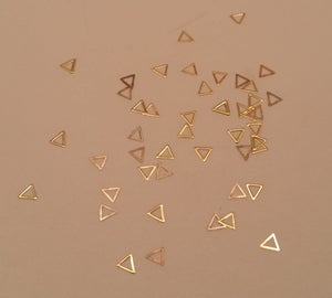 Image of Mini hollow triangle nail art slice decor (3x3mm) Silver or Gold