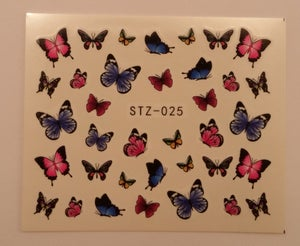 Image of Butterfly nail decals. Various designs available