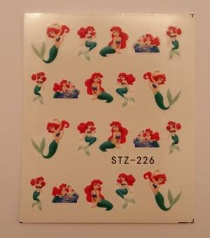 Image of Disney princess water decals (1 pack) 5 designs