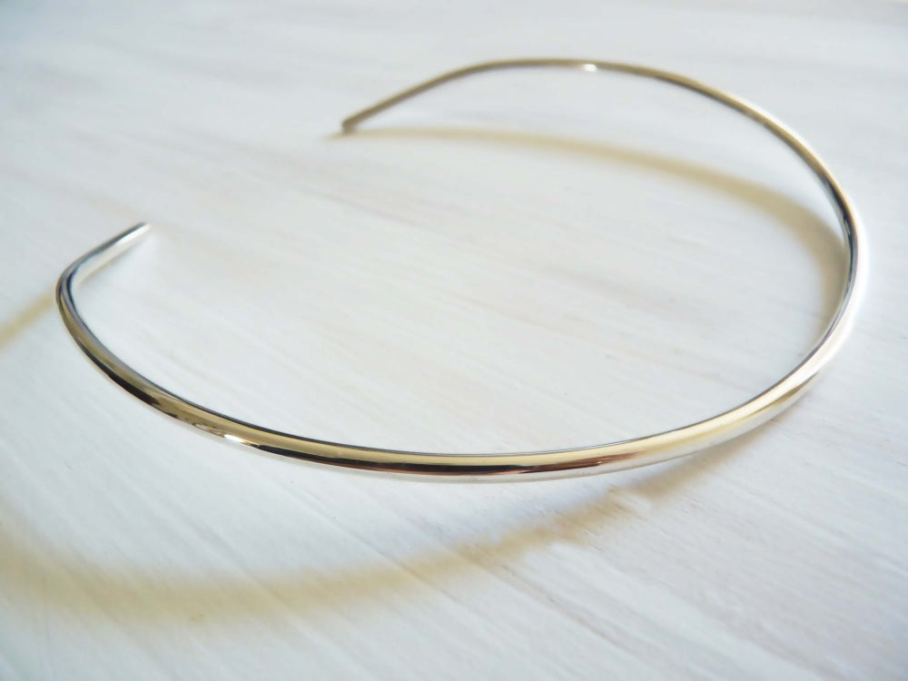 Image of Bauhaus neck cuff _ sterling silver