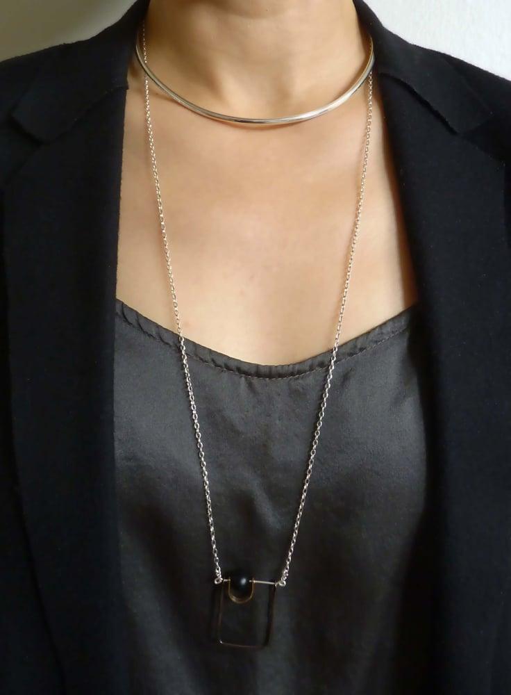 Image of Bauhaus collar _ sterling silver