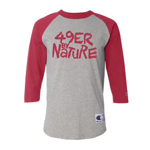 sports shoes 5ec12 1009a 49ers By Nature - On Baseball Tee