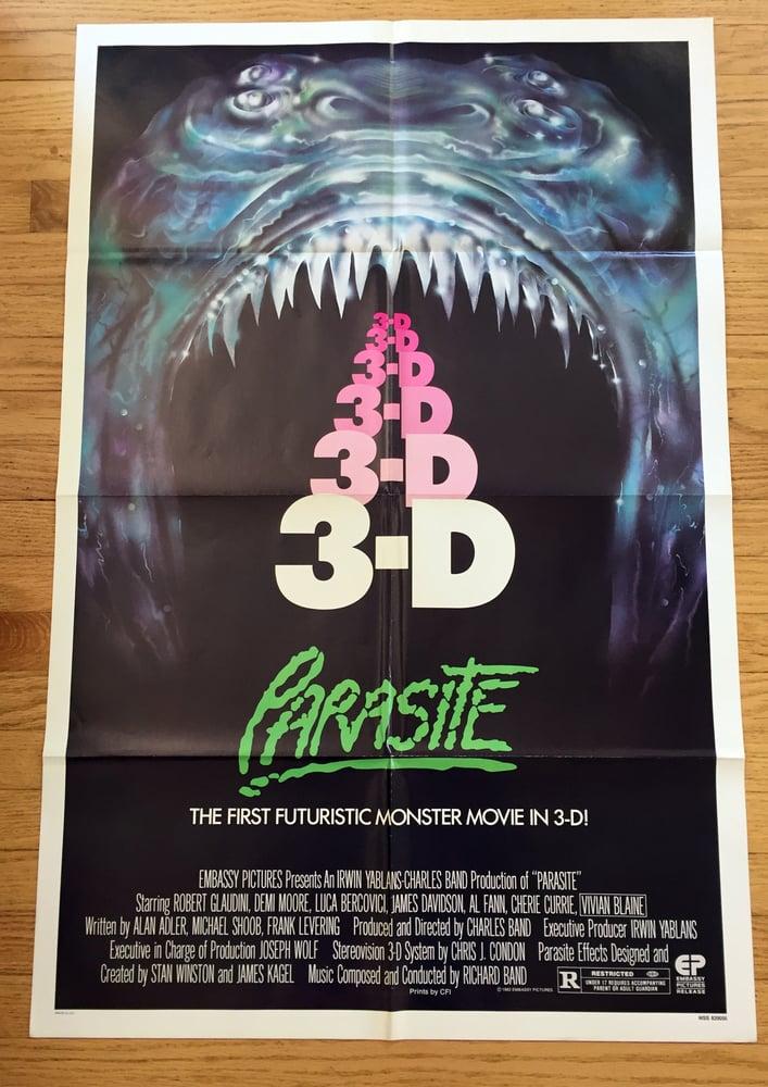 Image of 1983 PARASITE Original U.S. One Sheet Movie Poster