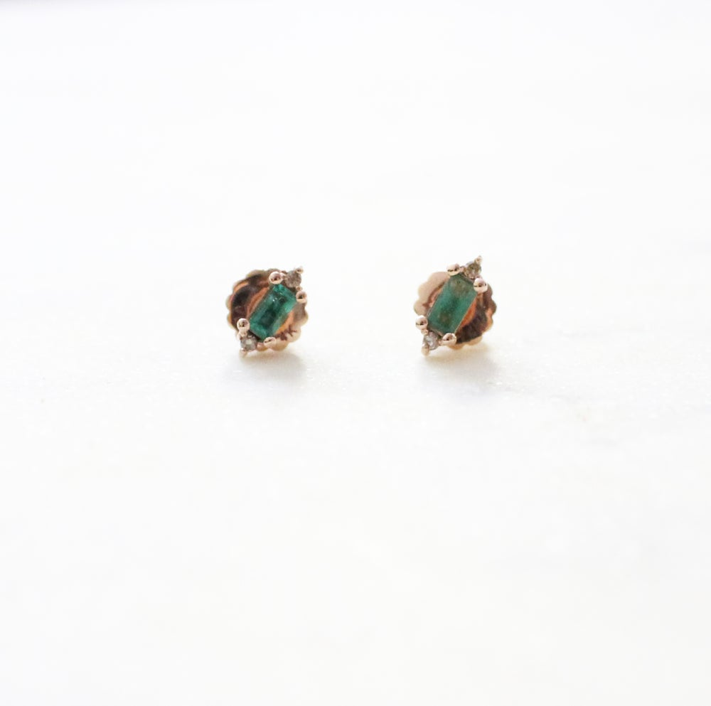 Image of Eleanor Emerald Earring