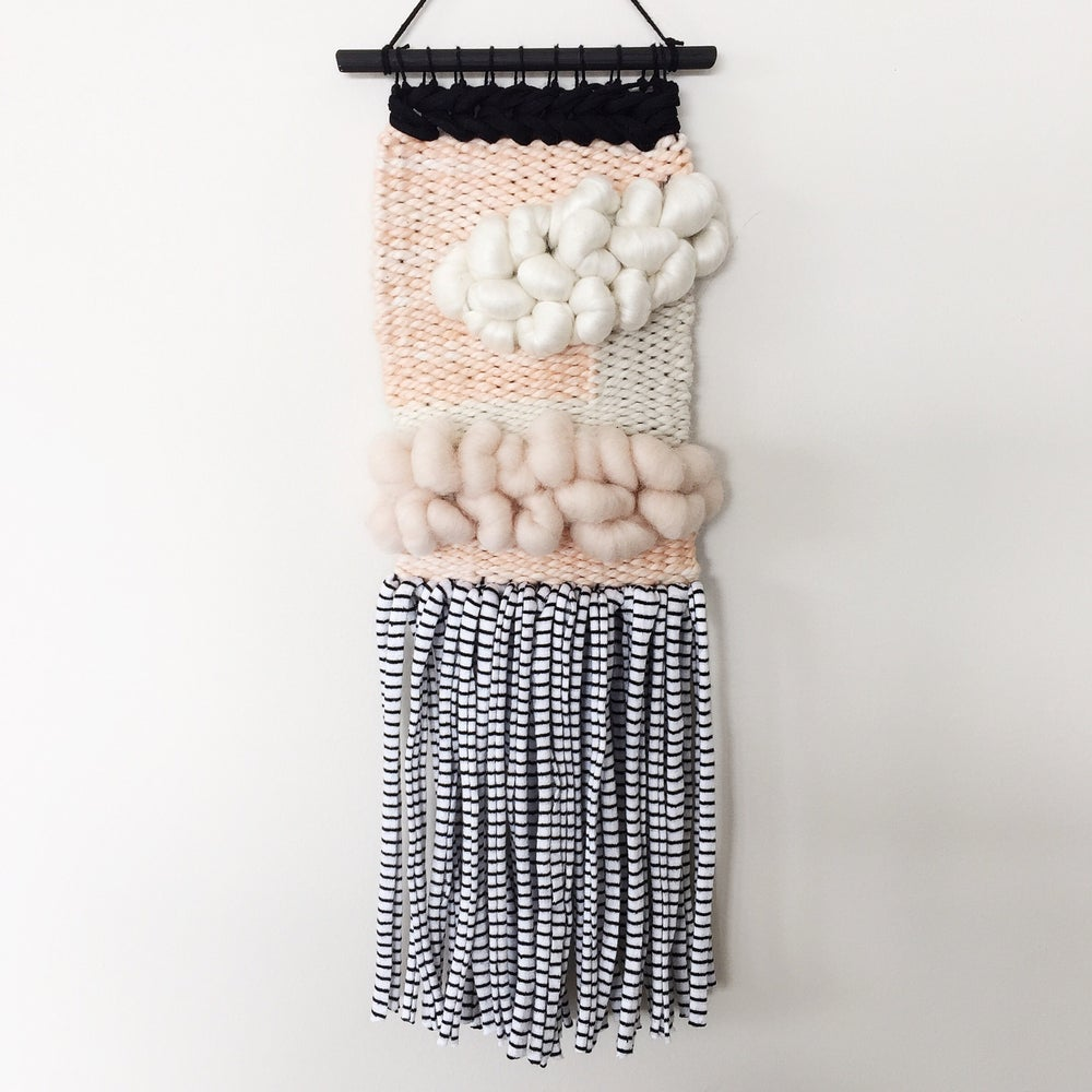 Image of Woven Wall Hanging - Peaches & Cream