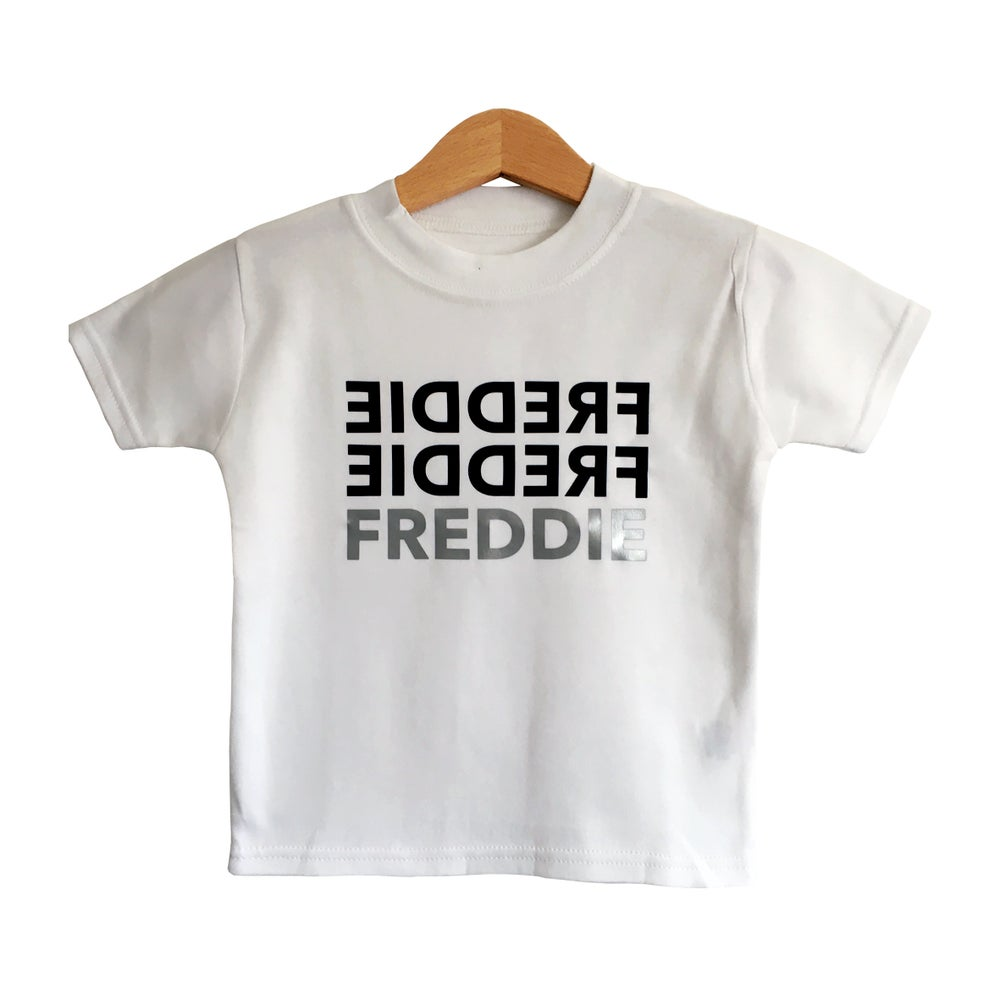 Image of TRIPLE NAME PERSONALISED SHORT AND LONG SLEEVE T Shirt