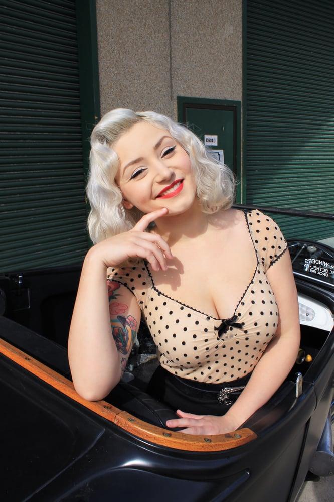 Image of Lolita top /cream and black polka dots
