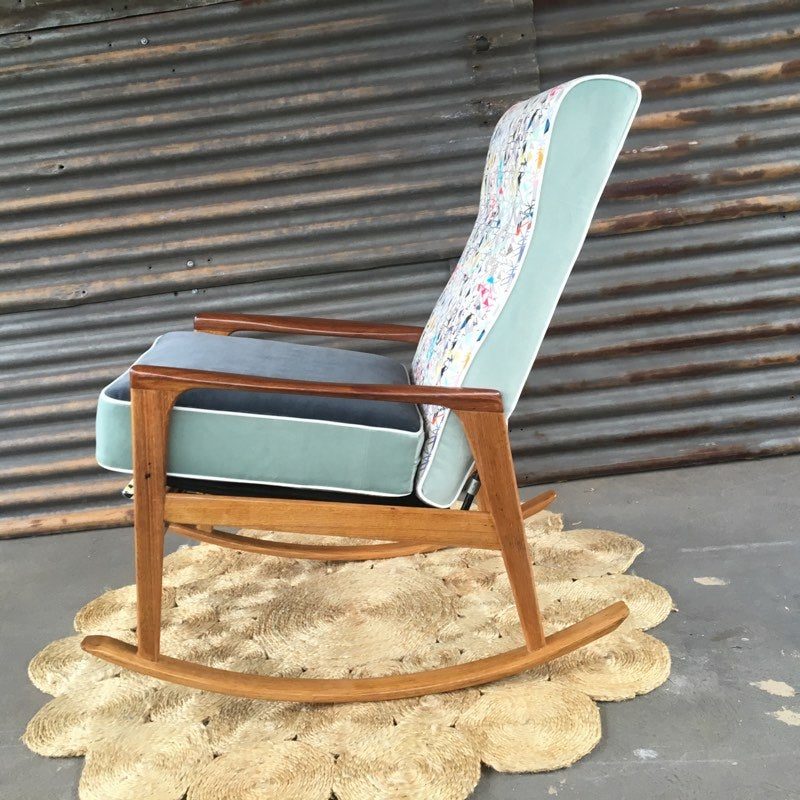 Image of ELSIE Mid-Century Rocking Chair