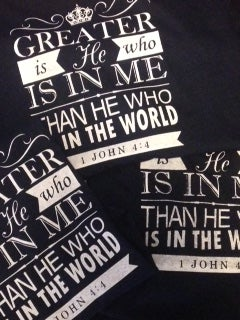 Image of Greater is He Tee