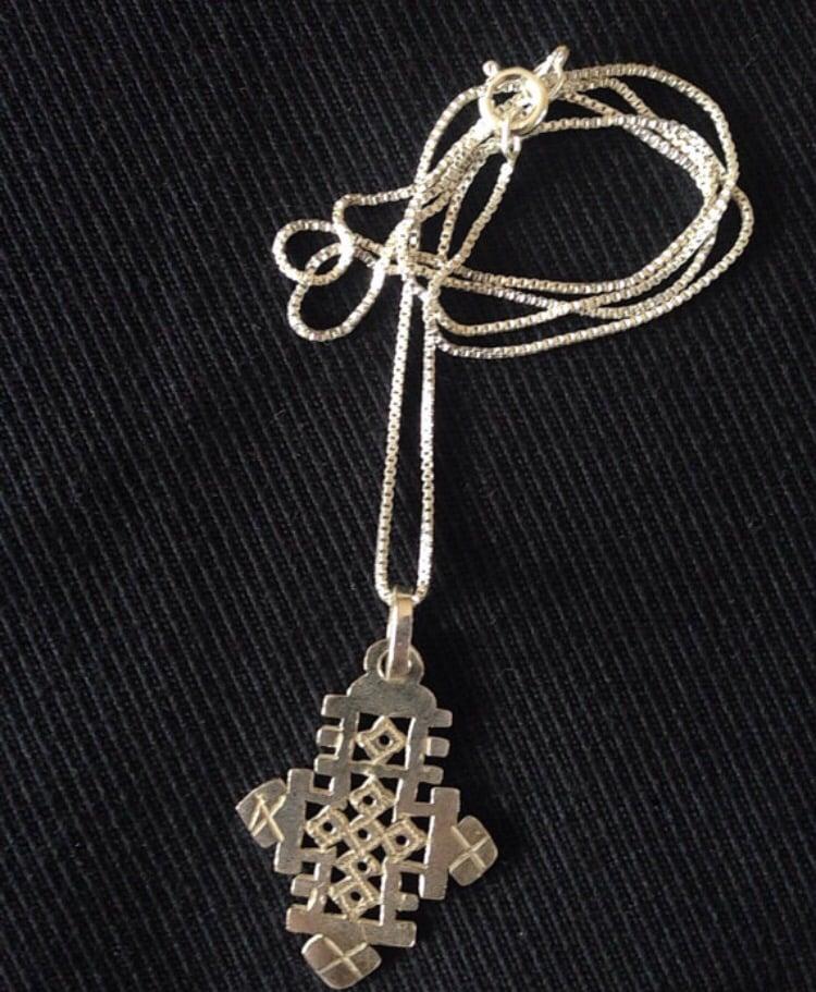 Image of Sterling Silver Ethiopian Axum cross