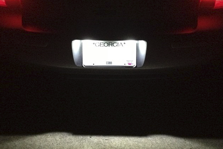 Image of LED License Plate Housings Crisp White / Plug and play Fits: Audi Models (models are listed inside)