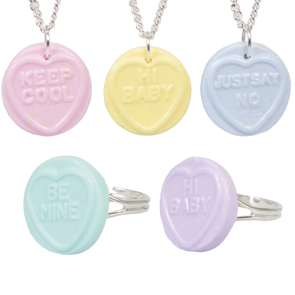 Image of Love Heart Sweet Necklace/Ring