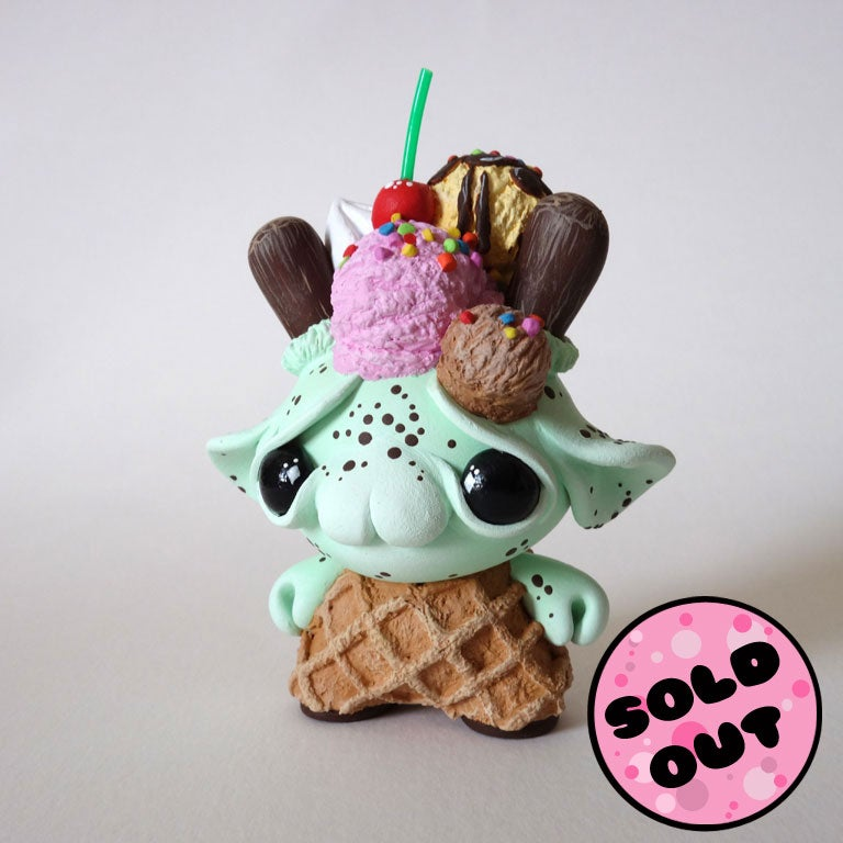 "Image of Scoops - 3"" Custom Kidrobot Dunny"