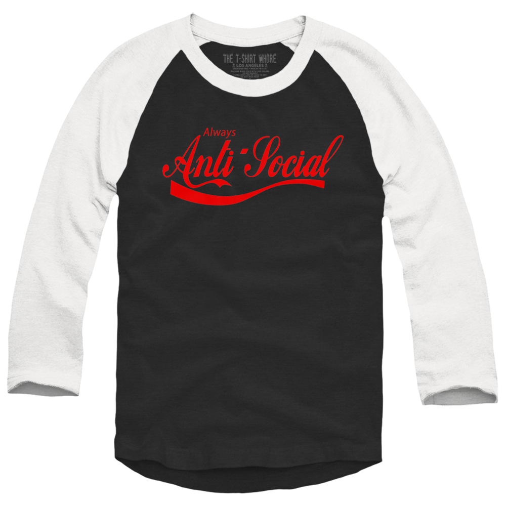 Image of Always Anti-Social Baseball Raglan