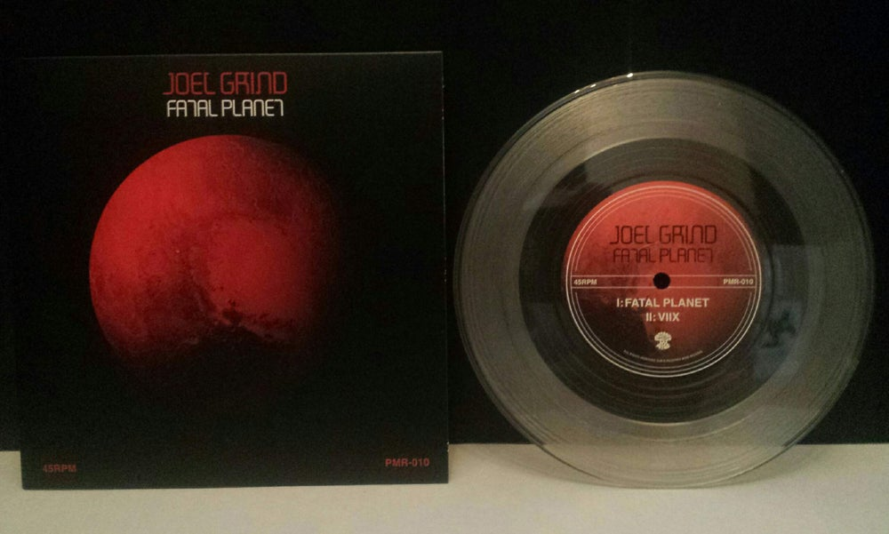 "Image of Joel Grind: Fatal Planet 7"" Clear Vinyl: 168 pressed"