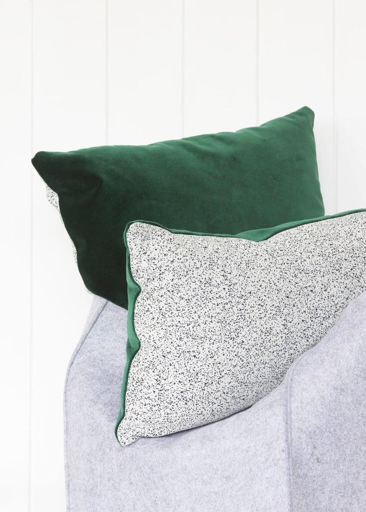 Image of Galaxy Velvet Green Cushion Cover - Lumbar