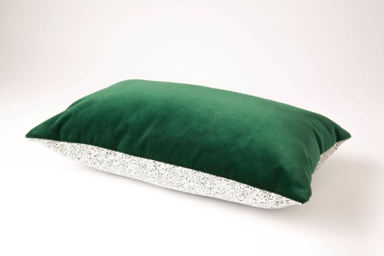 Image of Galaxy Velvet Green Cushion Cover - Lumbar