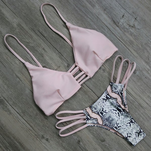 Image of SYNS PINK ZHEN SNAKE KINI