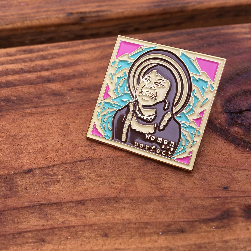 Image of Women Are Perfect - La Campesina Soft Enamel Pin