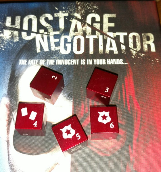 Image of Hostage Negotiator Metal Dice Set (5)