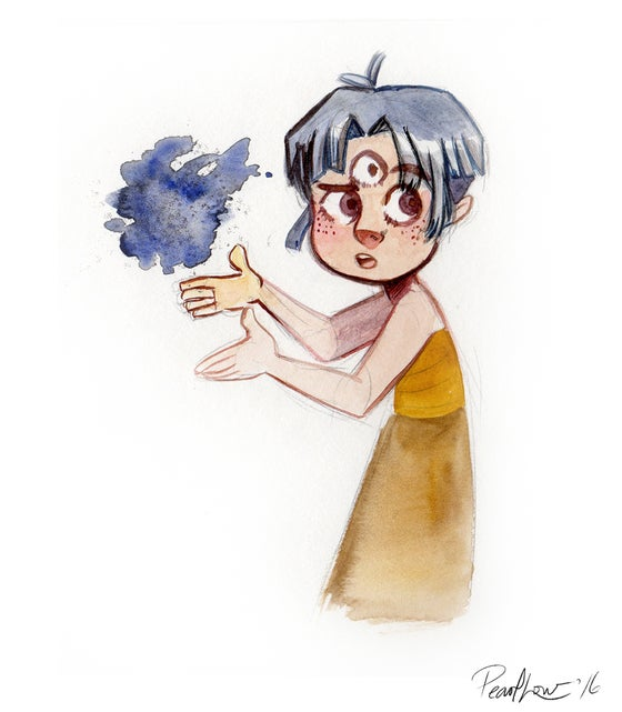 Image of Third Eye Child (Original Watercolour Painting)