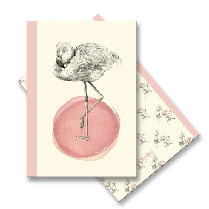 Image of Carnet A6 Flamant Rose