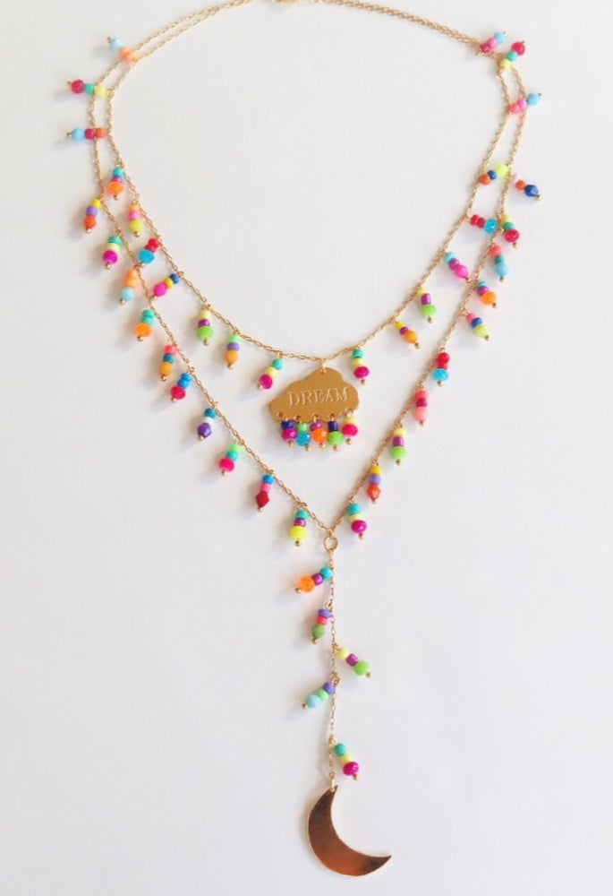 Image of Dream and Moon Double Necklace