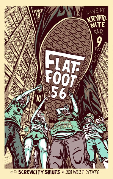 Image of flatfoot 56 gig poster