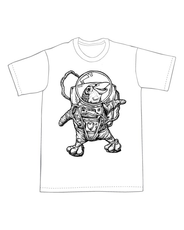 Space Penguin T-shirt (A3)**FREE SHIPPING**