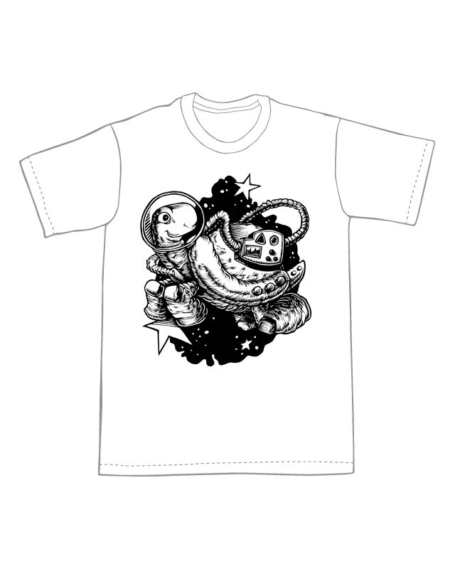Space Turtle T-shirt (B3)**FREE SHIPPING**