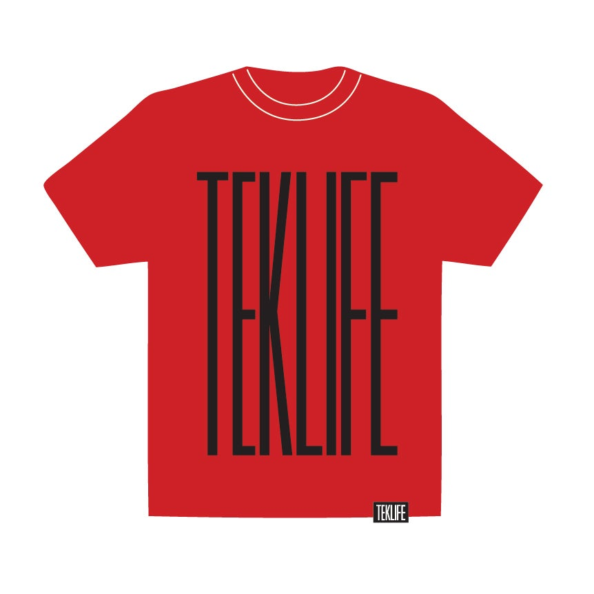 Image of TEKLIFE 011 Red T-shirt