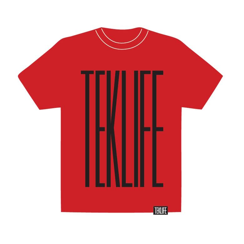Image of TEKLIFE 011 Red T-shirt