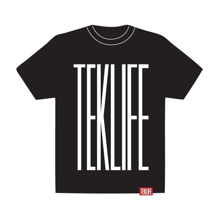 Image of TEKLIFE 011 Black T-shirt