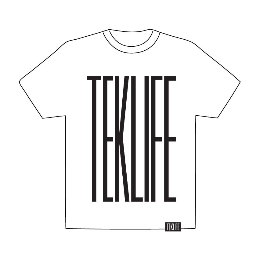Image of TEKLIFE 011 White T-shirt