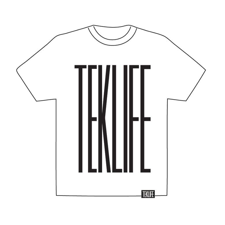 Image of TEKLIFE 011 White T-shirt