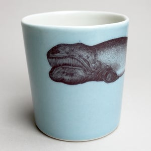 Image of 16oz tumbler with whale, ocean